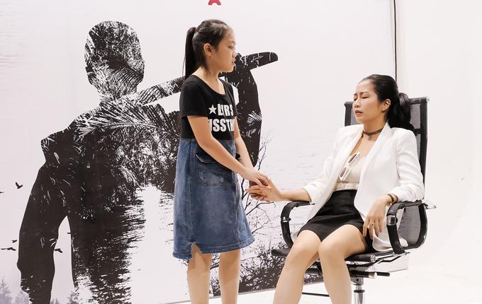 Ốc Thanh Vân bắt cặp diễn chung với một diễn viên nhí.
