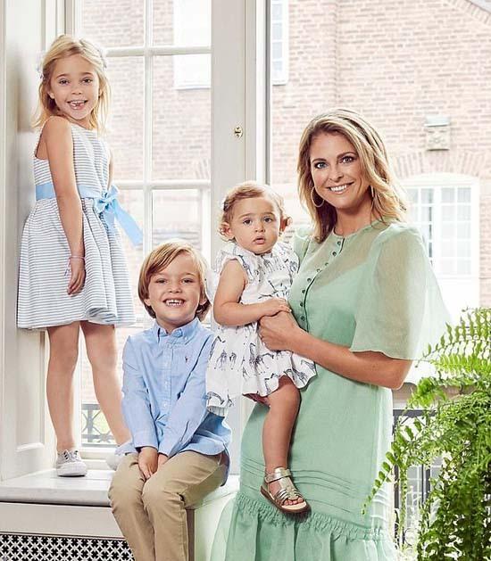 Ba con của Công chúa Madeleine bị ảnh hưởng bởi quyết định của Quốc vương XVI Gustaf. Ảnh: Instagram.