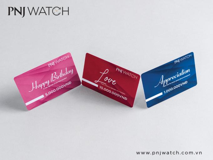 Ba loại thẻ của PNJ Watch.