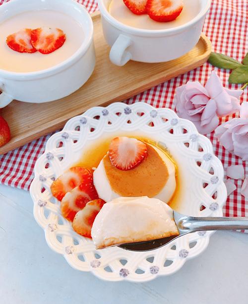Bánh flan vị dâu - 1