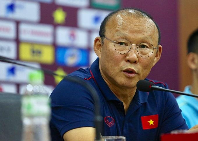 HLV Park tự tin trước trận thứ hai ở vòng loại World Cup 2022. Ảnh: Đương Phạm.
