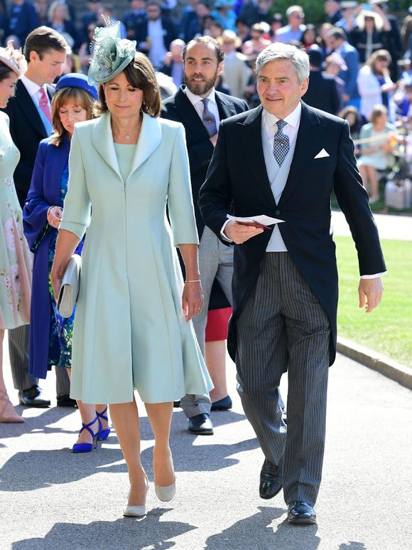 Ông bà Michelle và Carole Middleton dự đám cưới của Hoàng tử Harry hồi tháng 5/2018. Ảnh: PA.