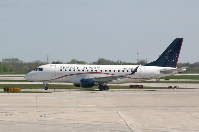 Máy bay của hãng hàng không Republic Airways. Ảnh: PA.