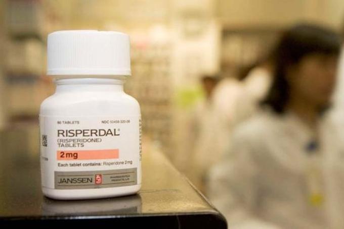 Thuốc điều trị rối loạn thần kinhRisperdal của Johnson & Johnson. Ảnh: Bloomberg.