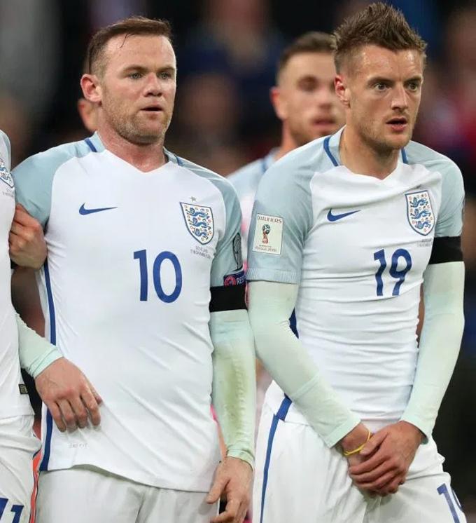 Rooney và Jamie Vardy thân thiết từ khi cùng sát cánh trong tuyển Anh dự Euro 2016.