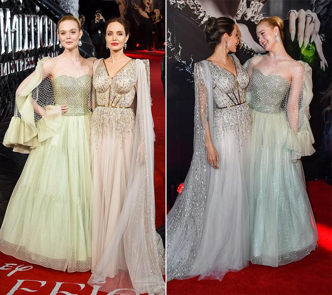 Ella thân thiết với Angelina từ khi đóng cùng trong Maleficent năm 2014. Ở ngoài đời, công chúa ngủ trong rừng cũng rất yêu quý mẹ đỡ đầu. Họ thường chụp ảnh xì tin cùng nhau ở trường quay.