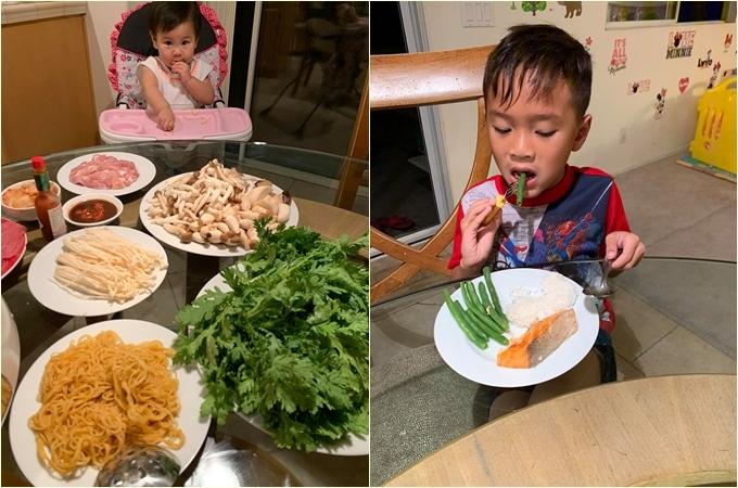 Thanh Thảo nấu nhiều món ngon cho các con thưởng thức.