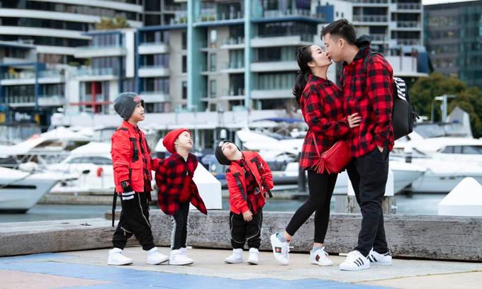 Gia đình hạnh phúc của MC Ốc Thanh Vân.