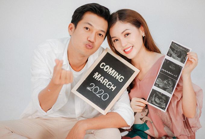 Con đầu lòng của Quang Tuấn và Linh Phi dự kiến chào đời vào tháng 3/2020.