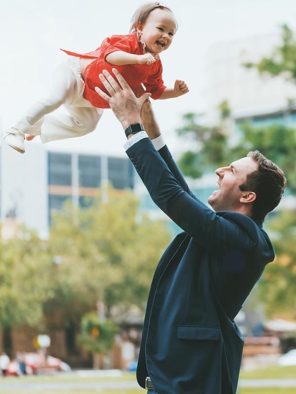 David hết mực yêu thương con gái.
