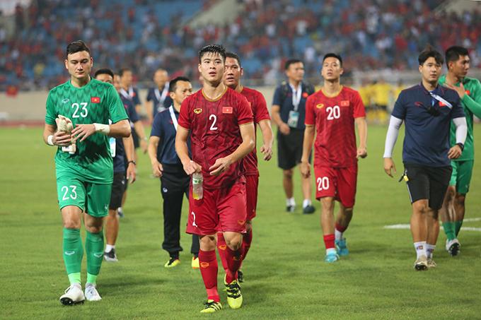 Bàn thắng duy nhất của trận đấu được ghi do công của Quang Hải ở cuối hiệp một. Hàng thủ của tuyển Việt Nam cũng có ngày thi đấu xuất sắc khi không để đối phương ghi bàn.