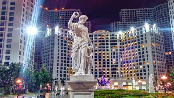 Khu đô thị Royal City mang phong cách kiến trúc châu Âu hiện đại trẻ trung.Ảnh:Vincomhanoiroyalcity