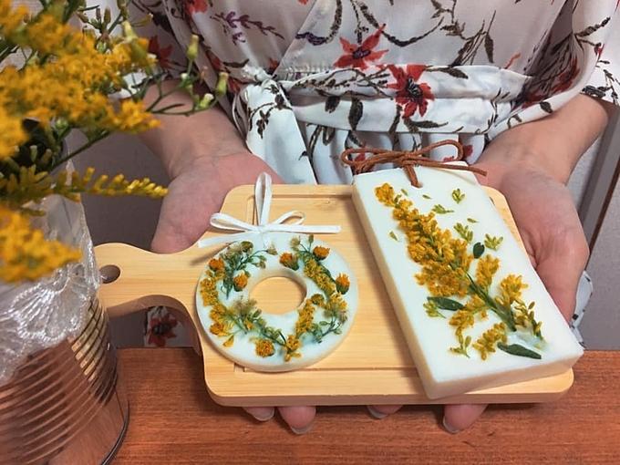 Sản phẩm sau khi hoàn thiện có mùi thơm dịu nhẹ của tinh dầu hoa Lavender.