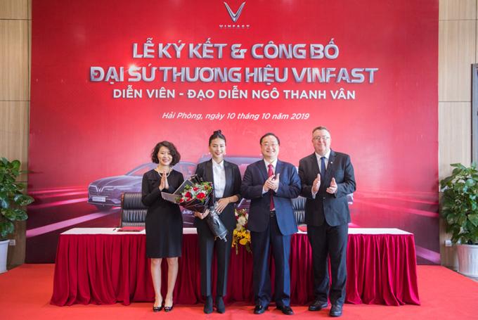 Lễ ký kết và công bố đại sứ thương hiệu VinFast - Ngô Thanh Vân.