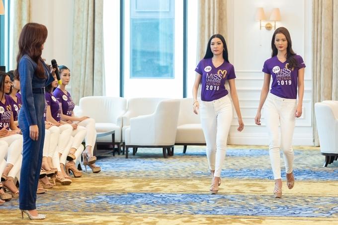 Thuý Vân thú nhận catwalk và trình diễn không phải là thế mạnh, nên cô ý thức tập luyện cùng các huấn luyện viên và thí sinh.