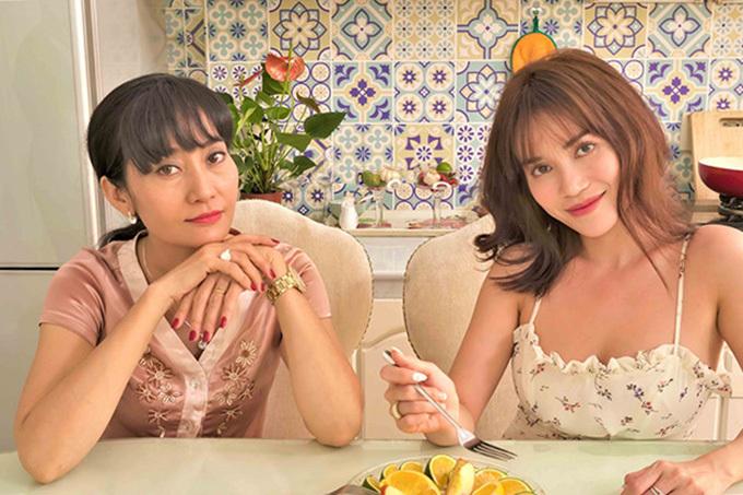Hạnh Thúy và Sĩ Thanh trong sitcom Nhà là nơi để về.