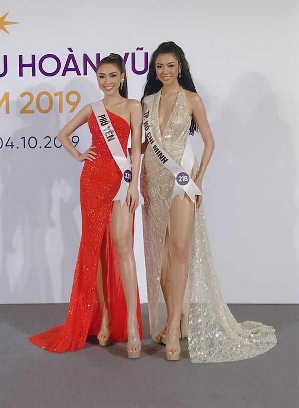 Trước khi đến với cuộc thi này, Tường Linh và Thúy Vân chỉ quen biết sơ sơ. Tuy nhiên, cùng tham gia các hoạt động tại nhà chung của Hoa hậu Hoàn vũ 2019 đã khiến họ trở nên thân thiết.