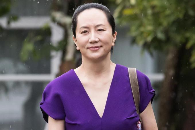 Meng Wanzhou đến tòa tại Vancouver dự phiên điều trầnvề quyết định dẫn độ sang Mỹ tại Toà án tối cao British Columbia, Canada hồi đầu tháng 10. Ảnh: Bloomberg.