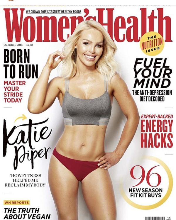 Katie Piper trên tạp chí Womens Health năm 2018.