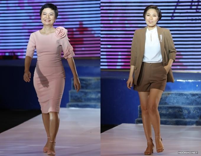 Một số người mẫu không chuyên trình diễn trong show.