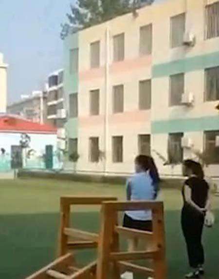 Trường mầm non Jingshi Tongdi nơi xảy ra vụ ngược đãi trẻ nhỏ. Ảnh: Weibo.