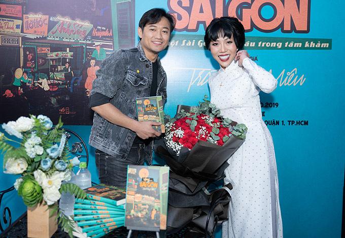 Diễn viên Quý Bình cũng đến chung vui với nữ MC.