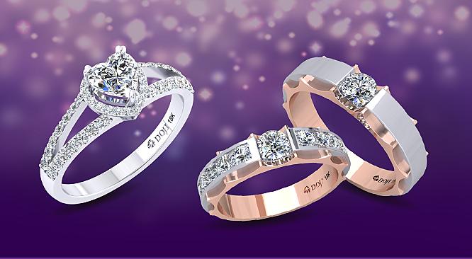 DOJI khuyến mại 100 cặp nhẫn cưới giá 4.999.999 đồng - 4