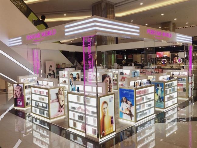 Gian hàng Perfume World tại trung tâm thương mại Vincom (quận 1, TP HCM).