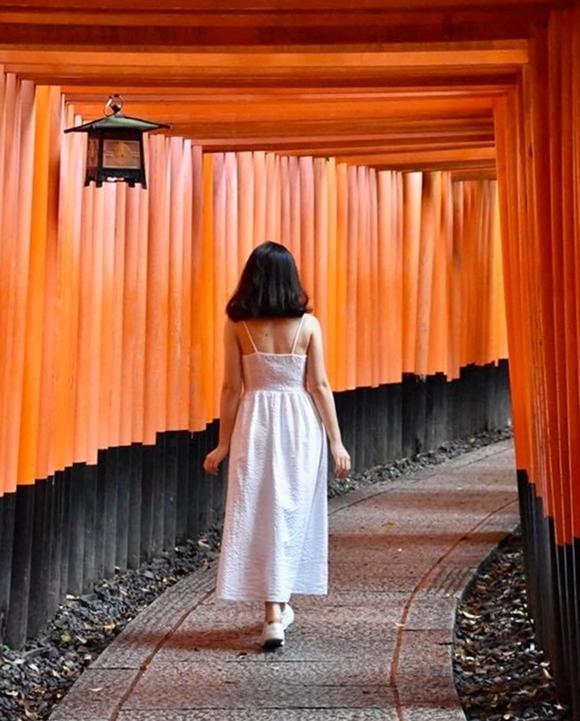 Kyoto nắng ấm trước khi bão đến. Ảnh NVCC