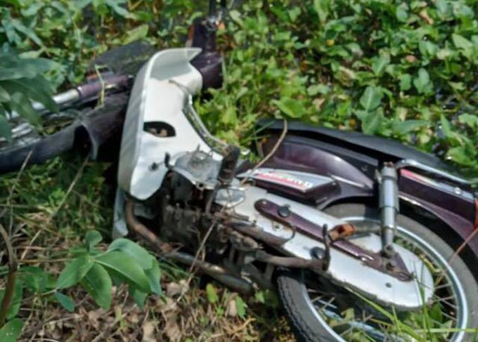 Chiếc xe máy trong vụ án.