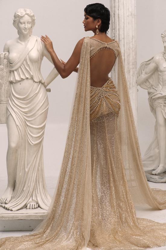 HHen Niê làm nữ thần trong thiết kế của Linh San - 2