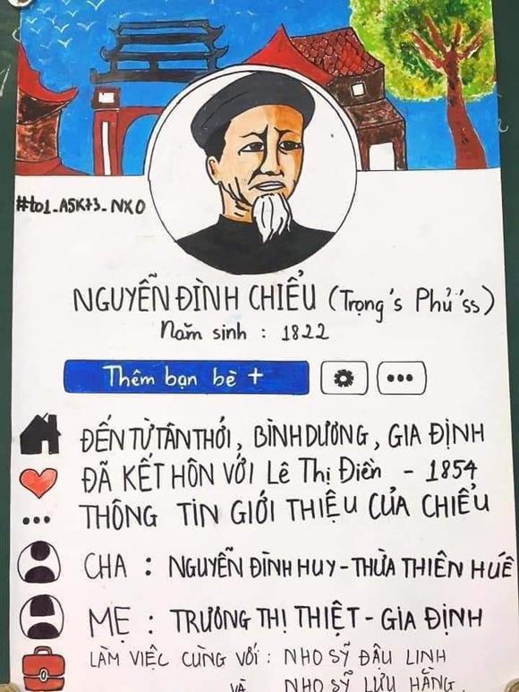 Profile của nhà thơ Nguyễn Đình Chiểu.