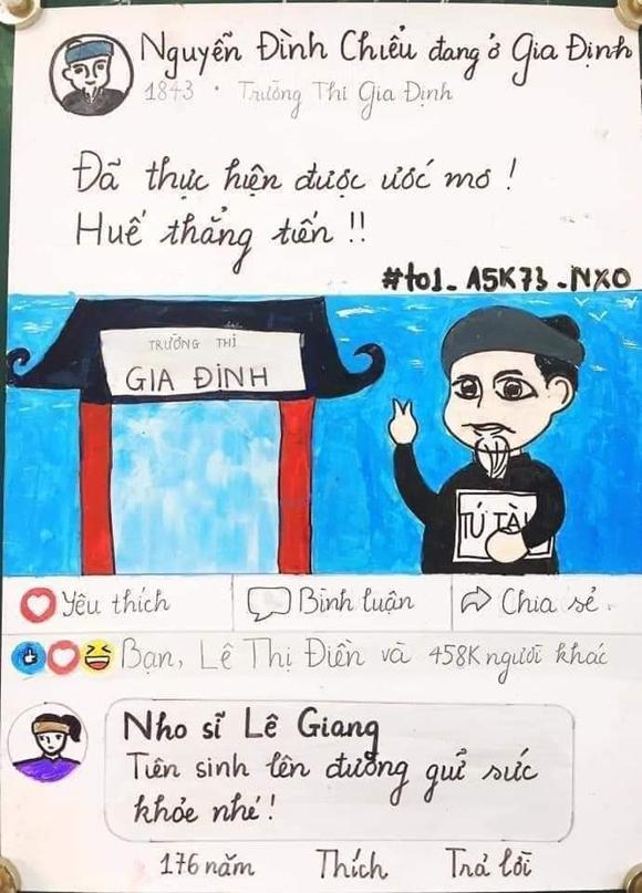 Nhóm học sinh lớp 11 vẽ Facebook Nguyễn Đình Chiểu - 2