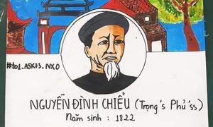 Học sinh lớp 11 'lập' Facebook cho cụ Nguyễn Đình Chiểu