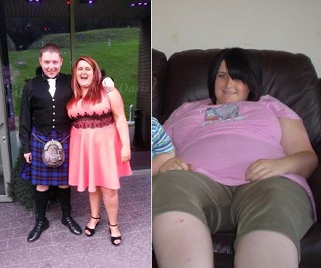 Jemma Cameron nặng hơn 100 kg sau 2 lần sinh nở.