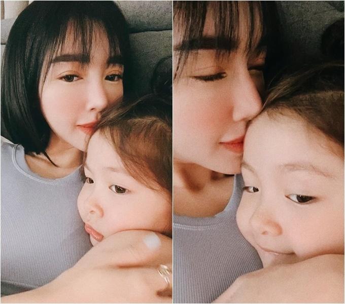 Elly Trần chỉ hôn lên mặt khi con gái đã được 5 tuổi.