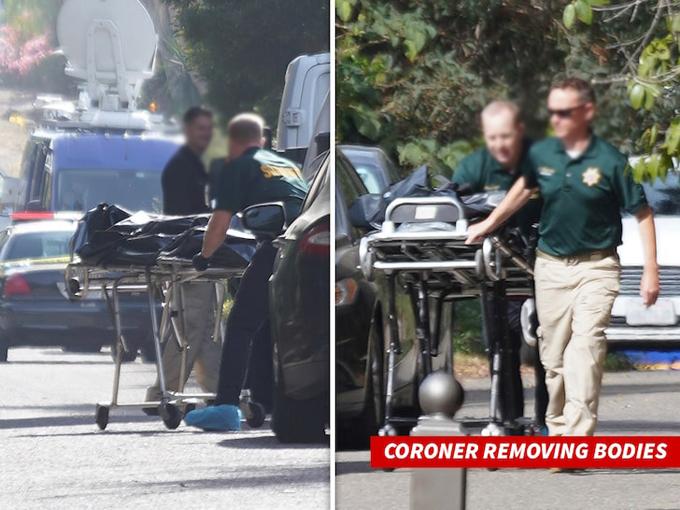Cảnh sát đưa bà Valerie Lundeen và con trai rời nhà hôm thứ 4.