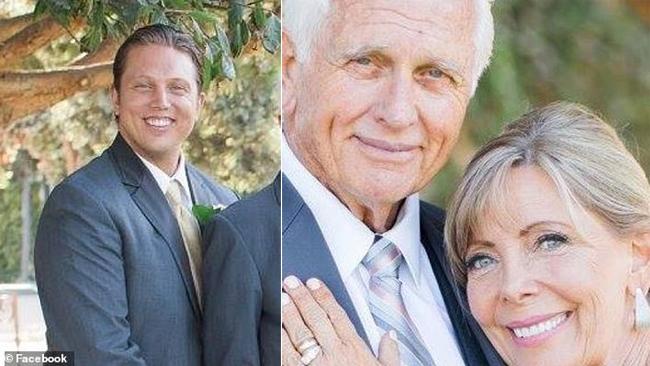 Cameron Ely (trái) được cho là đã bắn chết mẹ và đổ tội cho bố.