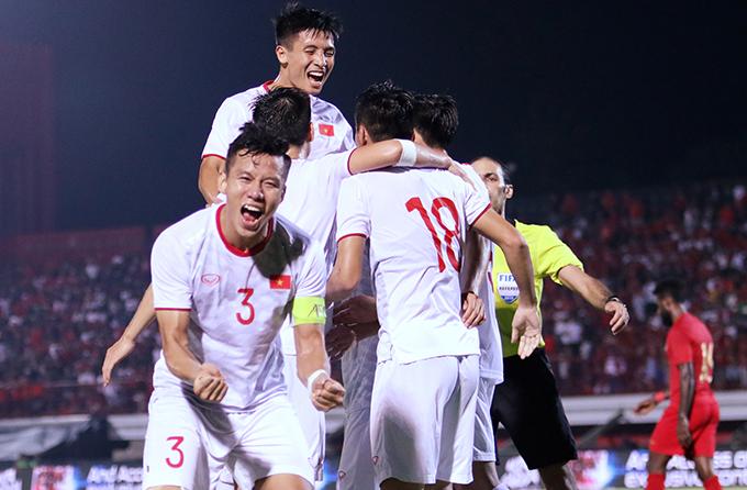 Tuyển Việt Nam trong chiến thắng 3-1 trước Indonesia. Ảnh: Đức Đồng.