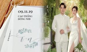 Thiệp cưới của Đông Nhi - Ông Cao Thắng