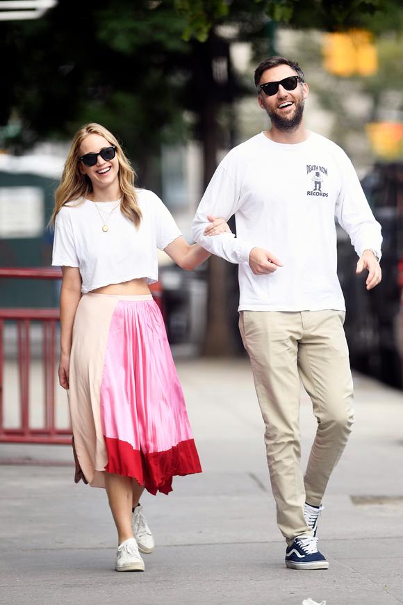 Jennifer Lawrence và bạn trai Cooke Maroney.