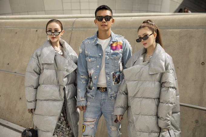 Xuất hiện bênKelly - Lilly Luta tạiSeoul Fashion Week 2020 còn có sự góp mặt của nhà thiết kế Đỗ Long.Anh diện cả cây denim đơn giản để tôn nét khỏe khoắn, nam tính khi đi xem show.