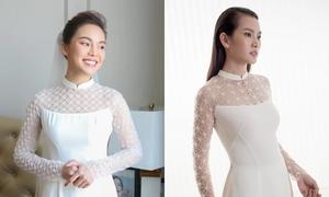 Giang Hồng Ngọc mặc áo dài cưới giống thiết kế của Trương Thanh Hải