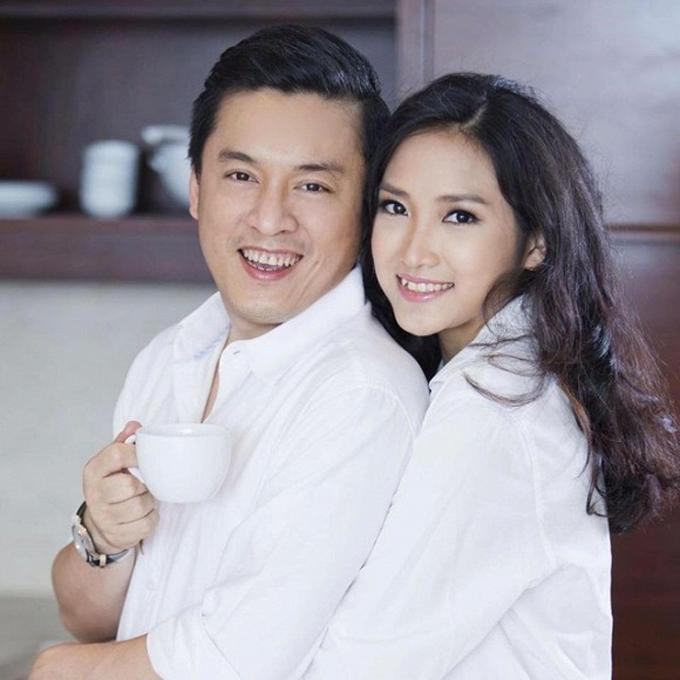 Lam Trường và vợ Yến Phương.