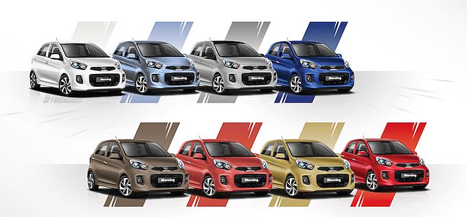 Xe có 8 lựa chọn màu sắc.