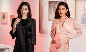 Huyền My diện váy mùa thu của Hà Linh Thư