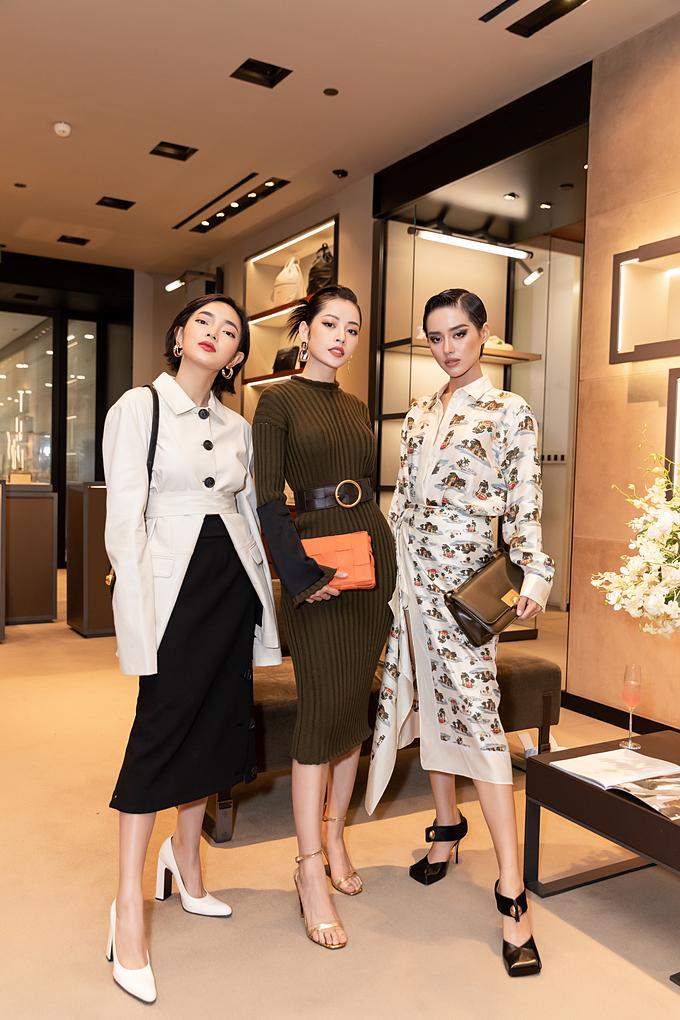 Chi Pu cùng xuất hiện với hai cô nàng It girl Châu Bùi và Khánh Linh.