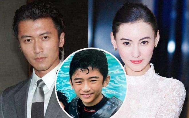 Tạ Đình Phong (trái), Trương Bá Chi và con trai cả Lucas.