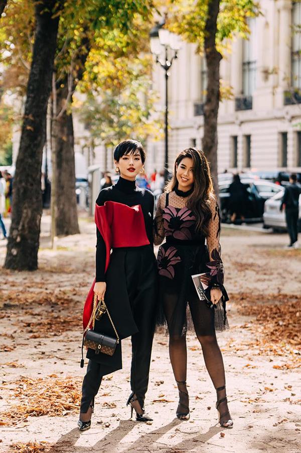 Cô hội ngộ fashionista Tiên Nguyễn - con gái của diễn viên Thuỷ Tiên - tại sự kiện.