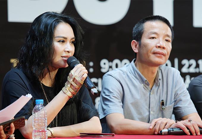 Thanh Lam và nhạc sĩ Nguyễn Vĩnh Tiến.
